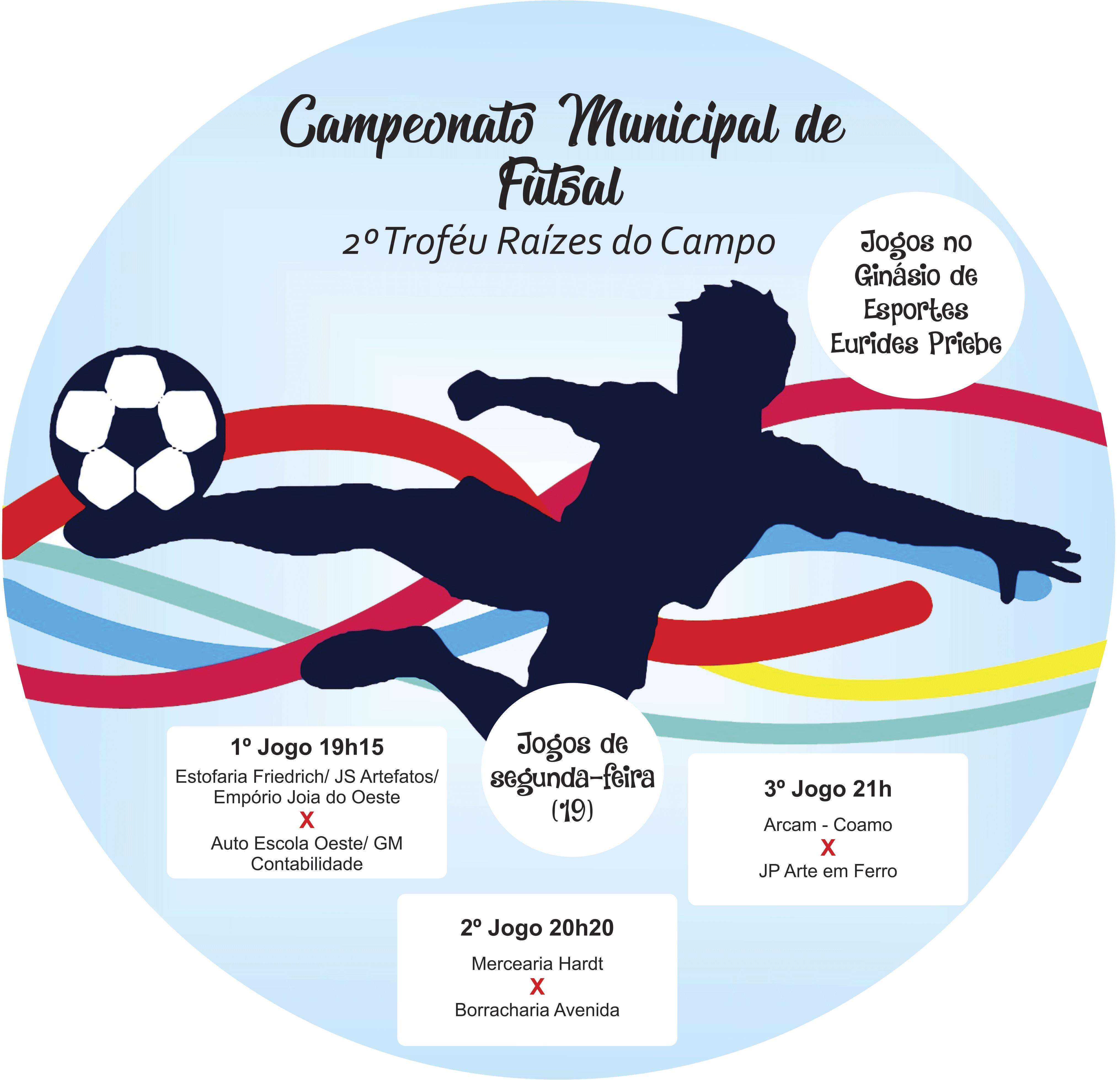 7c0d8e623 Campeonato Municipal de Futsal inicia nesta segunda (19 ...